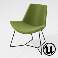 3d unreal halle chair ue4