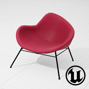 unreal halle k2 chair 3ds