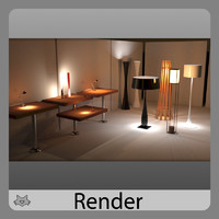 3d model lamps lights