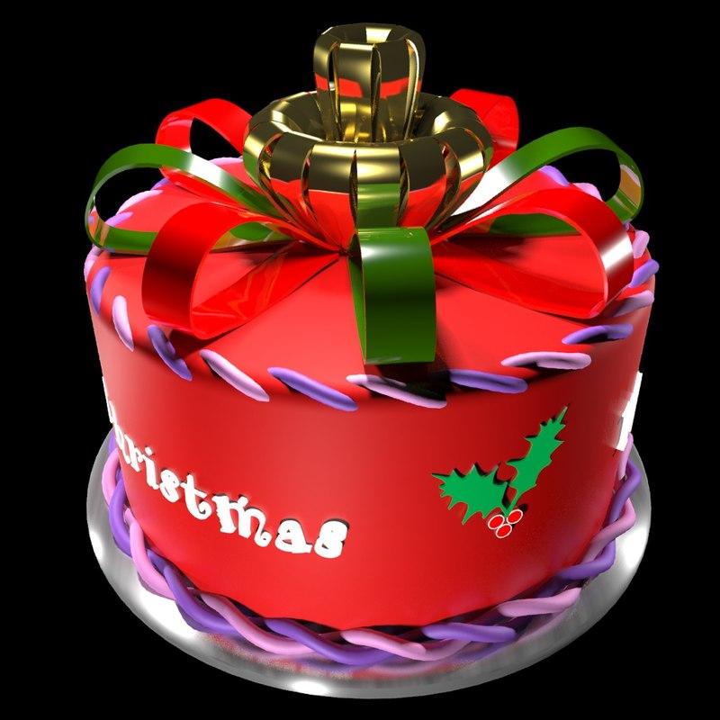3d christmas cake