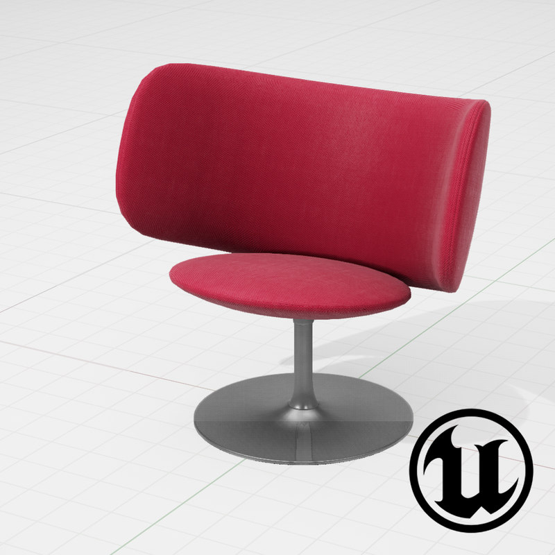 3d model unreal halle stella chair