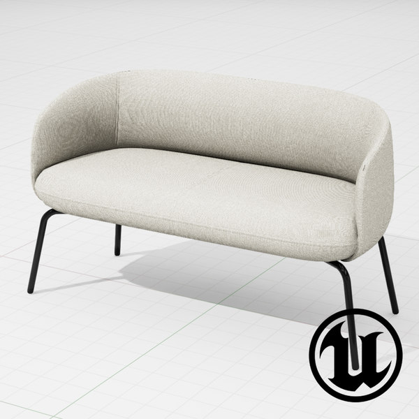unreal halle nest sofa 3d model
