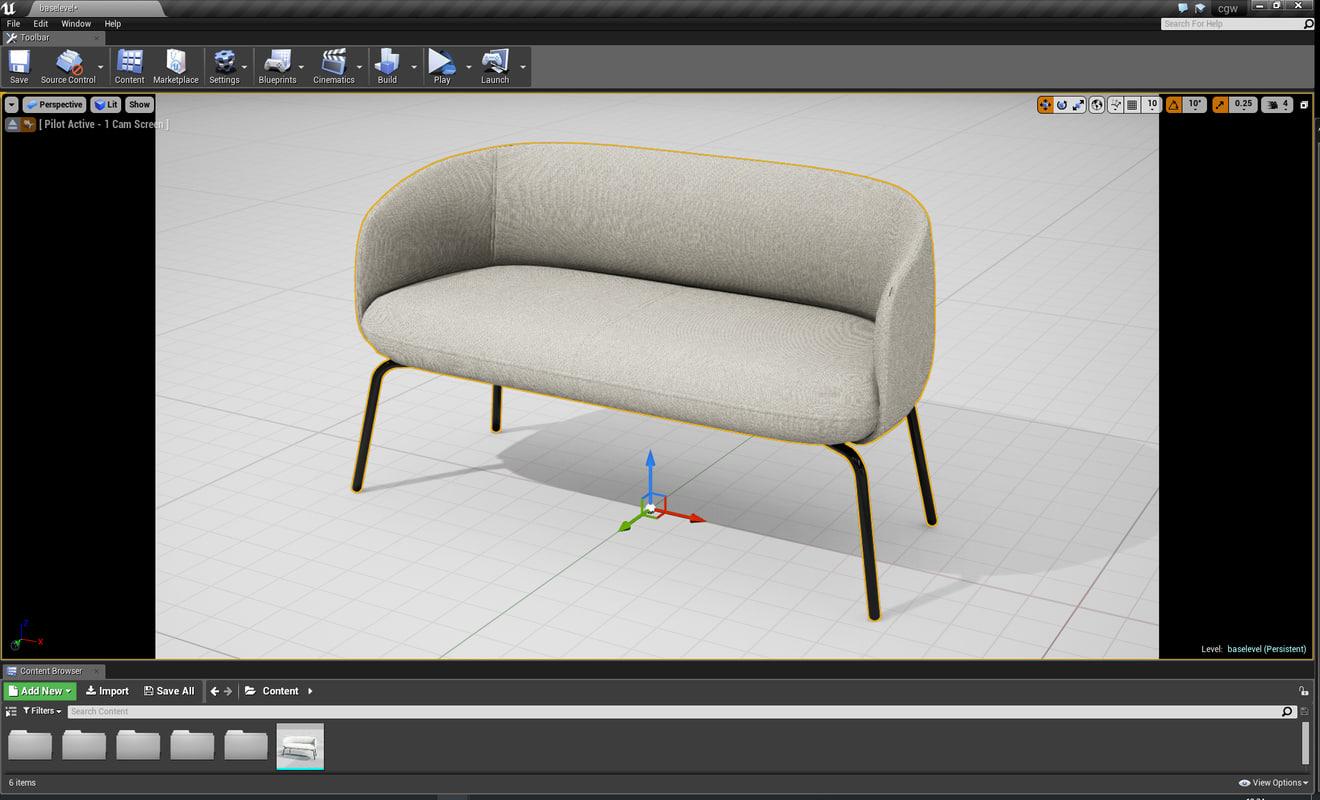 PlusHalle Low Nest Sofa UE4