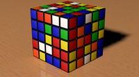 5x5 Scrambled Rubic Cube