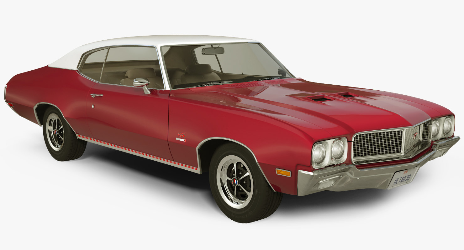 muscle car buick gs455 3d max