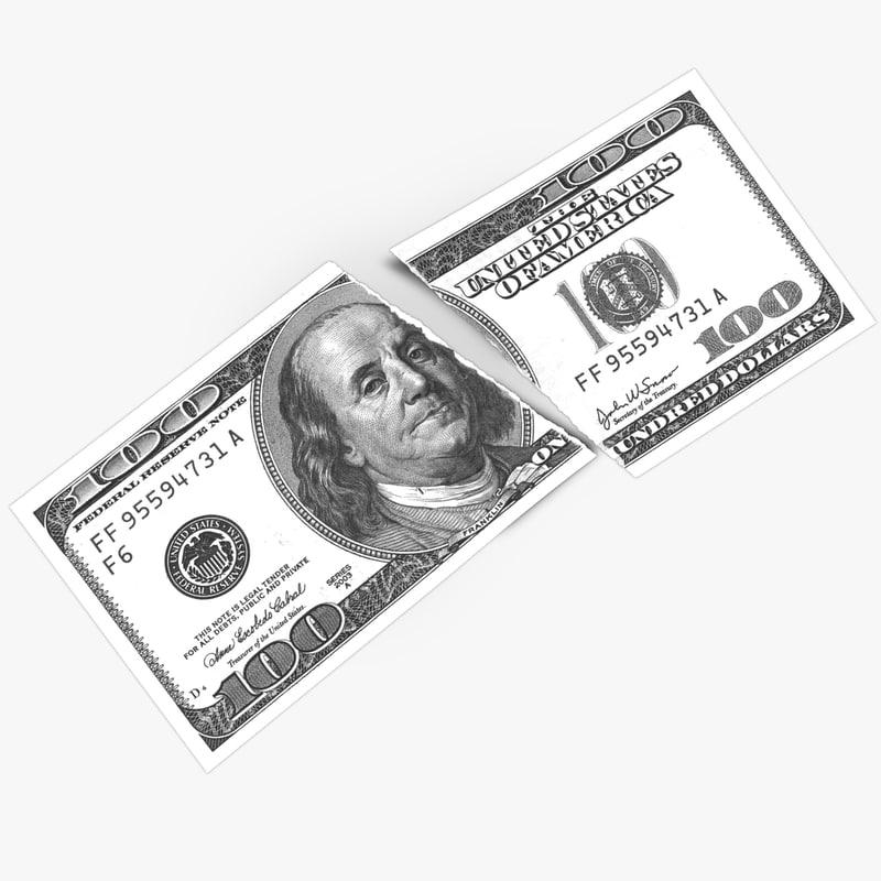 dollar torn 3d max