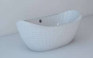 3d bathtub freestanding bath