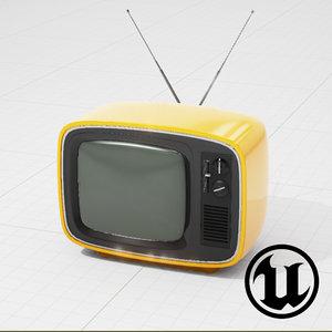retro tv ue4 fbx