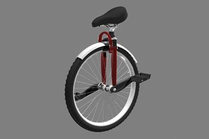 unicycle rigged 3d model