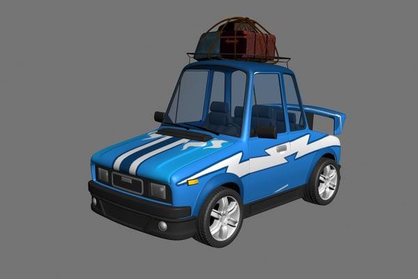 cartoon car 3d max