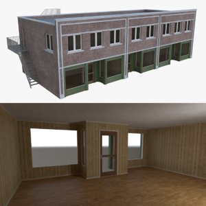 store interior buildings 3d obj