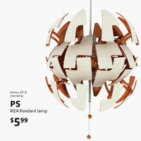 3d ikea ps 2014 lamp light model
