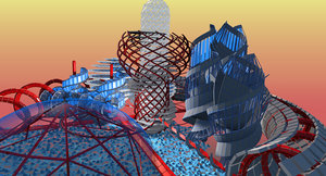 3d model futuristic townscapes