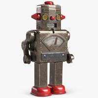 vintage robot 3d model