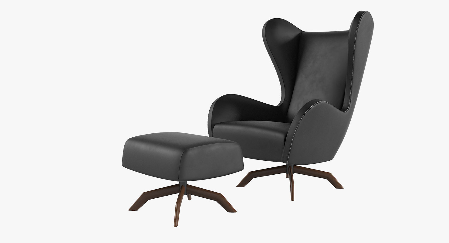 3d model felix lounge chair