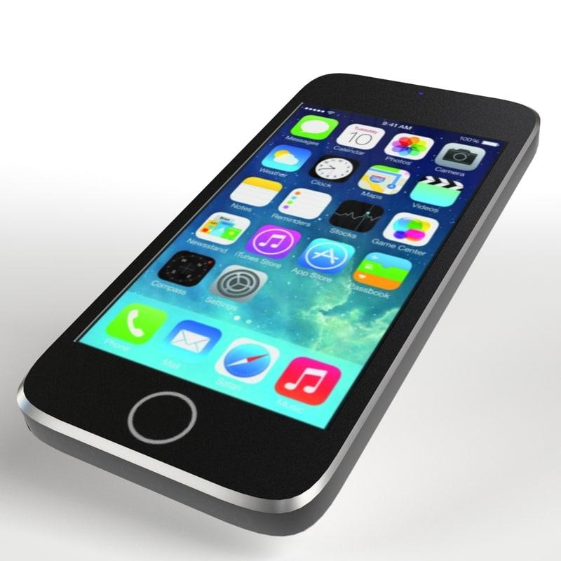 3d model iphone 5s smartphone