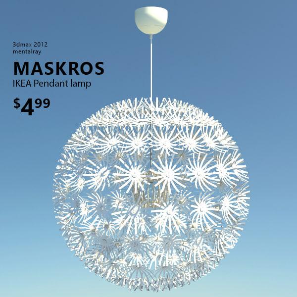 3d ikea maskros lamp light. Black Bedroom Furniture Sets. Home Design Ideas