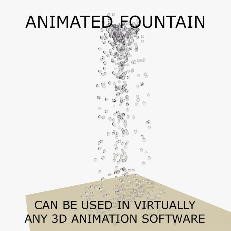 3d model of water fountain animations