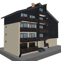 4 storey house 3d model