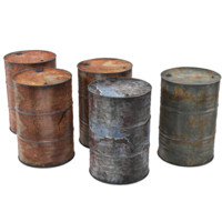 steel oil barrel rusty max