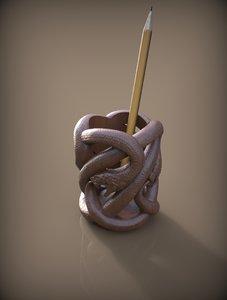 cup snake 3d obj