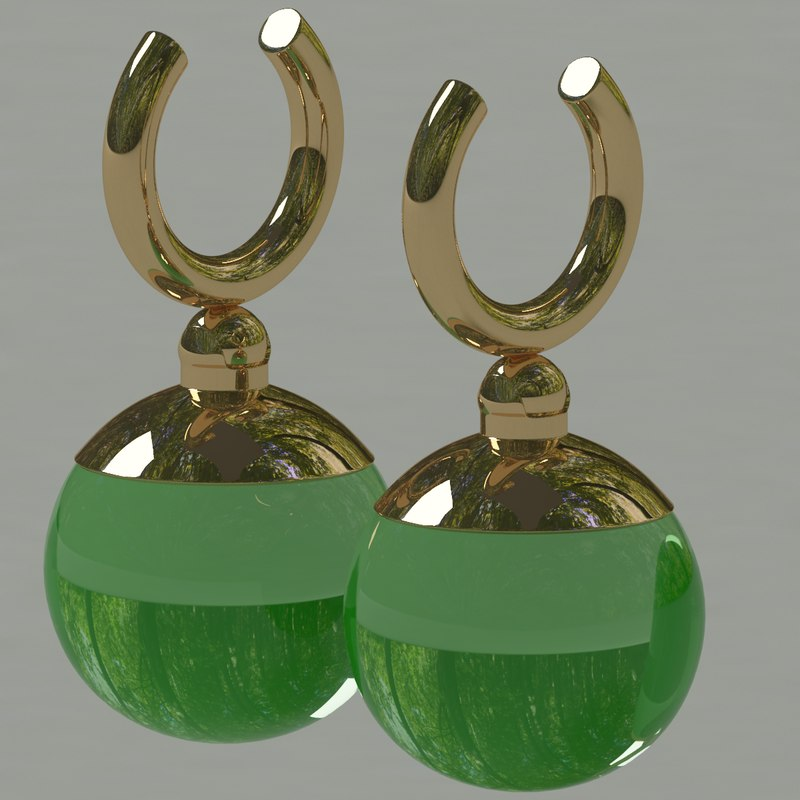 3d potara earrings