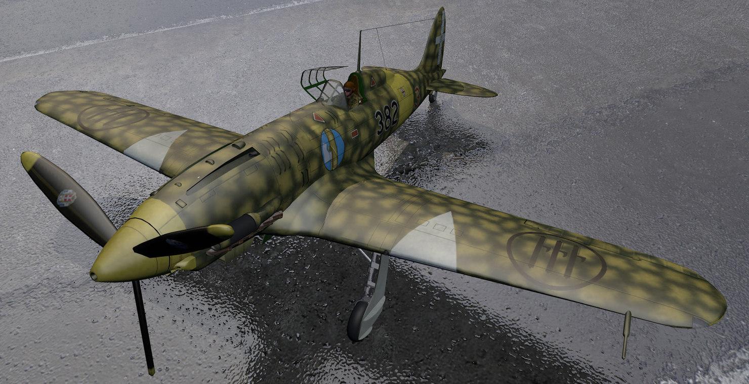 plane macchi mc-202 folgore 3d 3ds