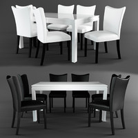 table chairs milan 3d max