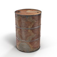 steel oil barrel rusty 3d max