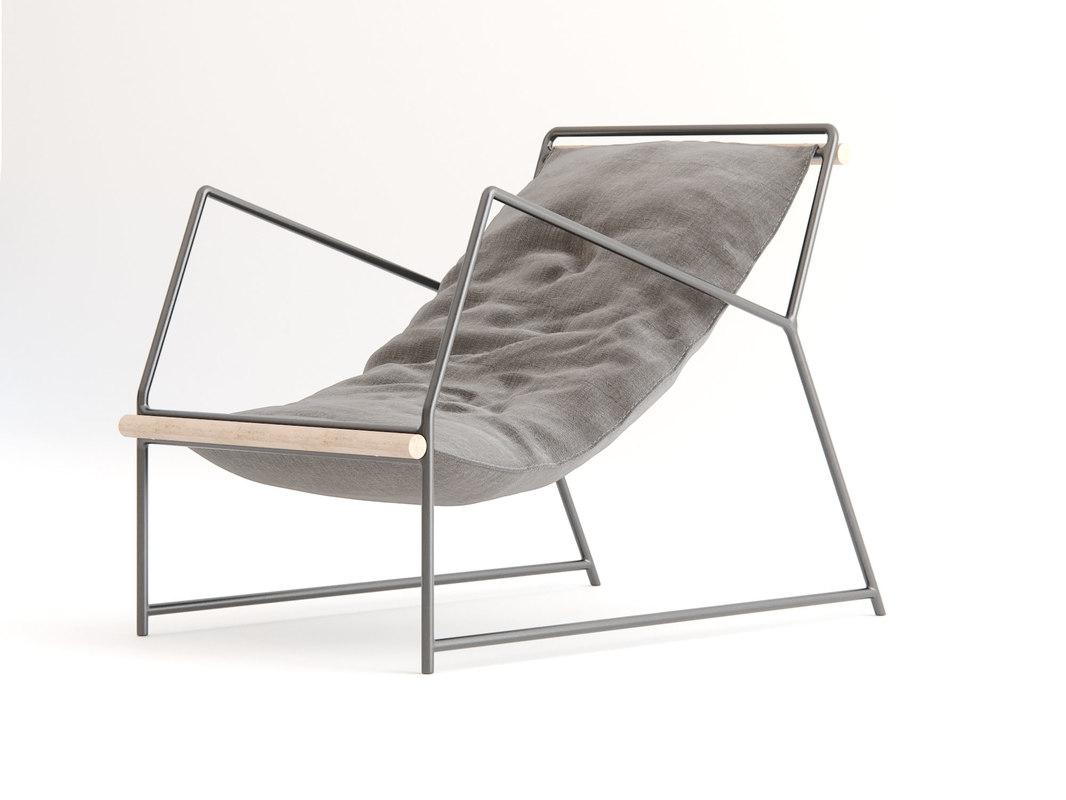 kumo chair 3d model
