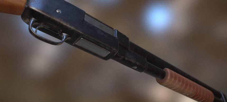 pump action shotgun fbx