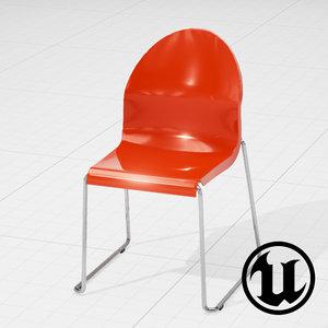 3d model of unreal magis aida chair
