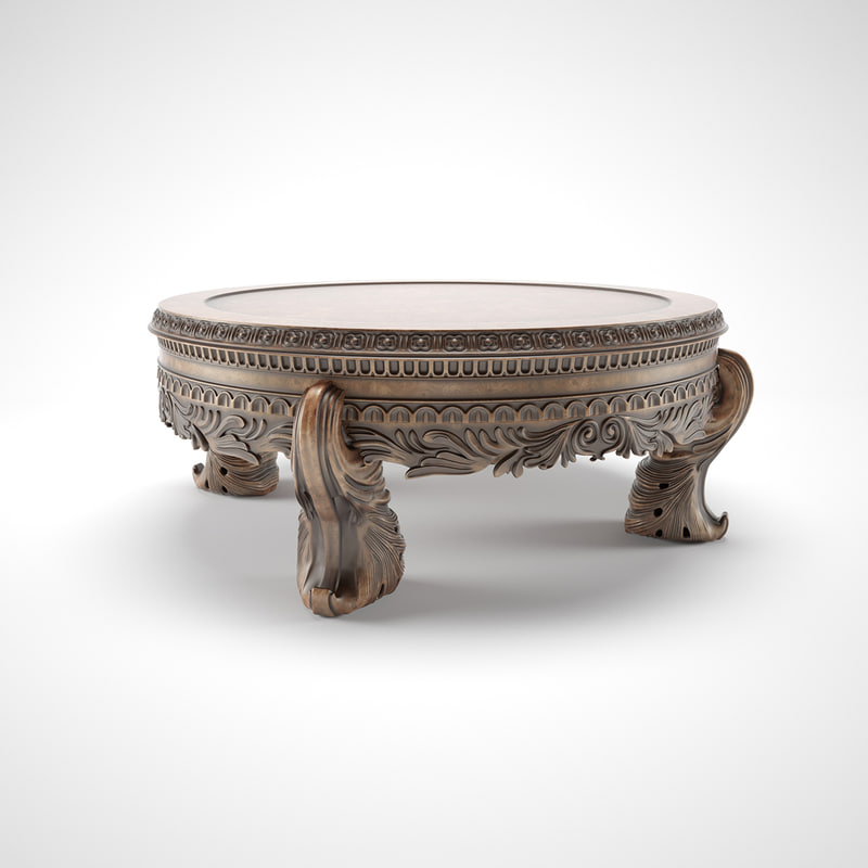 carved table 3d model