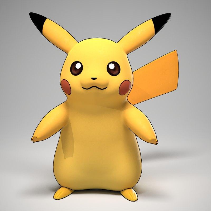 3d model pikachu pokemon