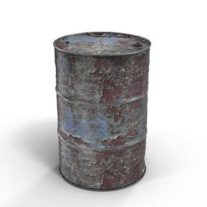 steel oil barrel rusty max