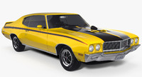 1970 buick gsx muscle car 3d model