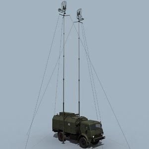 3d model russian military radio station