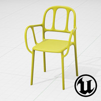 3d unreal magis mila chair model