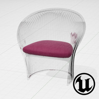 unreal magis flower chair 3d model