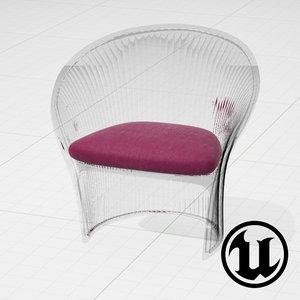 unreal magis flower chair 3d model