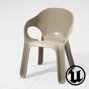 unreal magis easy chair 3d model