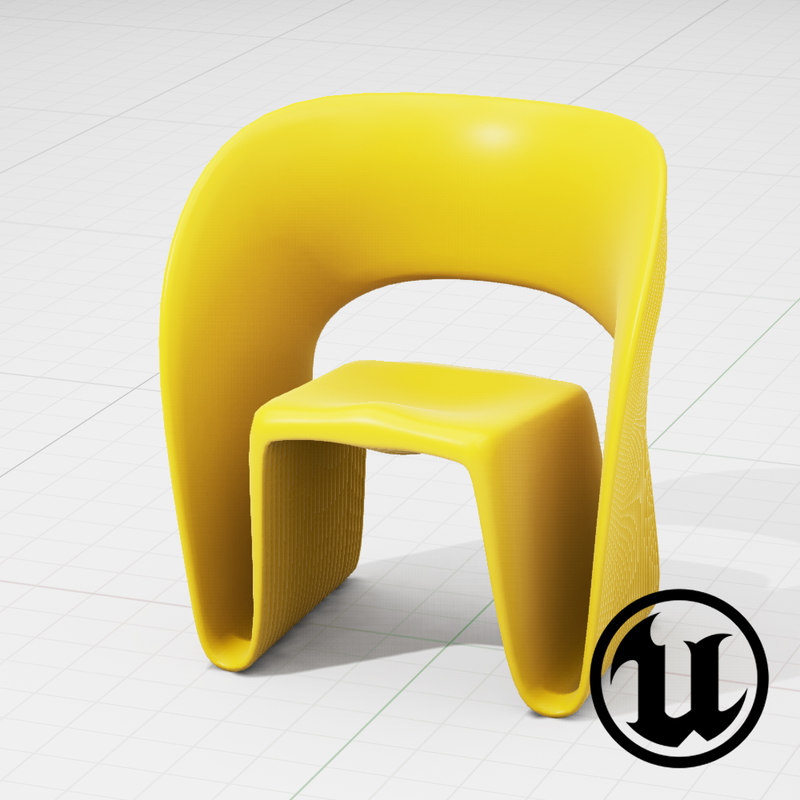3d unreal magis raviolo chair