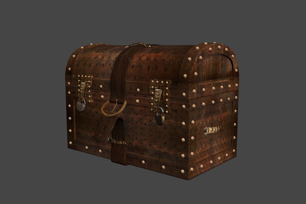 3d treasure box model