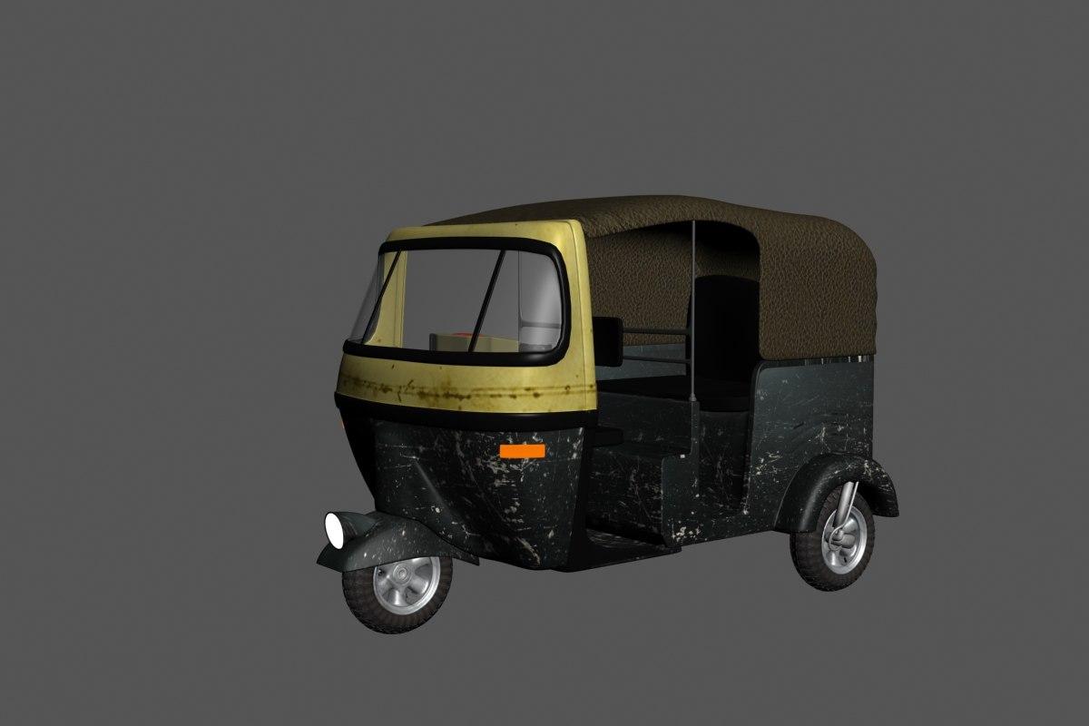 3d car toktok 3 wheel