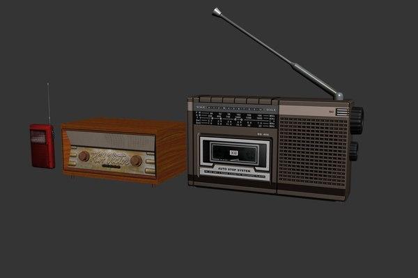 radio classic 3d max