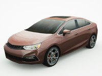 3d model of generic sedan v13
