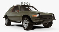 3d amc pacer rally car model