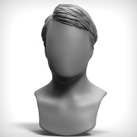 3d obj expressive hairstyle