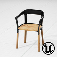3d model unreal magis steelwood chair