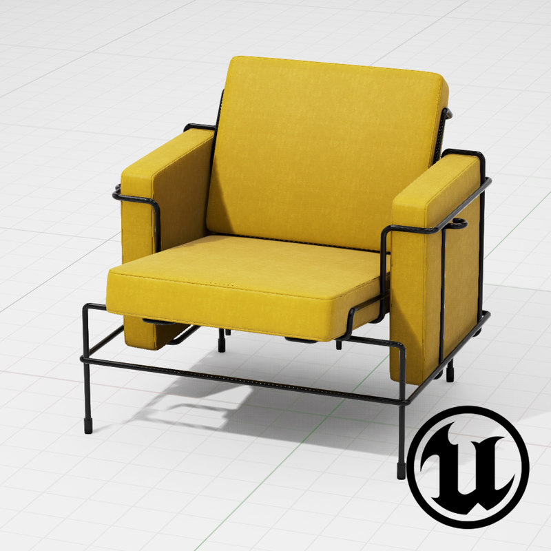 3d model unreal magis traffic chair